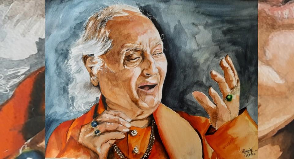 pandit jasraj painting